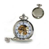 Mechanical Hand Wind Skeleton Pocket Watch